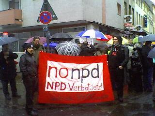 Kundgebung zur Menschenkette auf der Keupstraße.