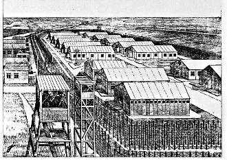 Zeichnung: Situationsplan des Lagers Börgermoor.
