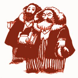Cartoon: Marx und Engels.